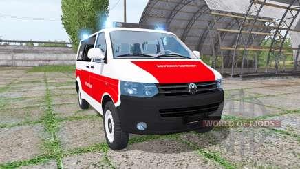 Volkswagen Transporter (T5) rettungsdienst pour Farming Simulator 2017