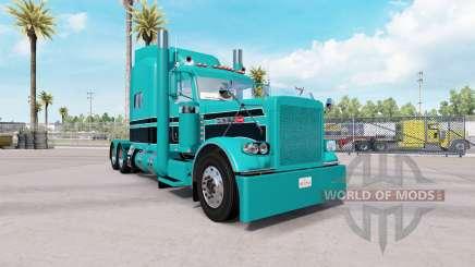 Скин Turquoise Black combo на Peterbilt 389 pour American Truck Simulator