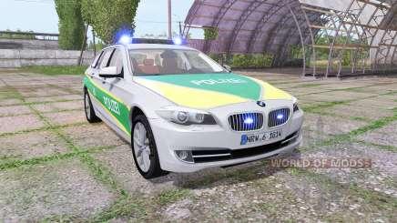 BMW 530d Touring (F11) polizei bayern pour Farming Simulator 2017