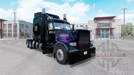 La peau rose Pourpre flamme pour le camion Peterbilt 389 pour American Truck Simulator