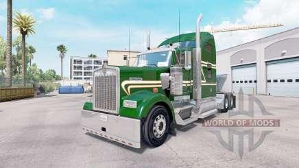 Peau Vert Or sur le camion Kenworth W900 pour American Truck Simulator
