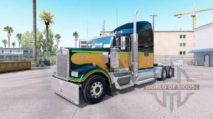 La peau JA.Le Jour de l'émancipation sur le camion Kenworth W900 pour American Truck Simulator