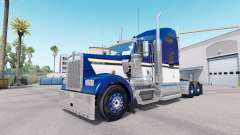Haut Blau Gelb Weiß für LKW-Kenworth W900