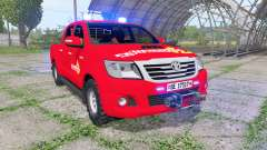 Toyota Hilux Double Cab 2011 feuerwehr v1.1