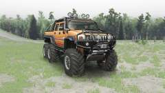 Hummer H2 6x6 pour Spin Tires