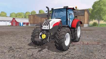Steyr Profi 4130 CVT front loader pour Farming Simulator 2015