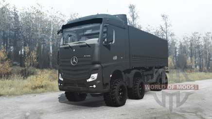 Mercedes-Benz Actros (MP4) chassis 8x8 pour MudRunner