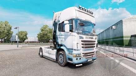 Final Fantasy de la peau pour le camion Scania R-série pour Euro Truck Simulator 2