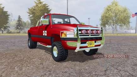 Dodge Ram 3500 Club Cab mobile tank pour Farming Simulator 2013