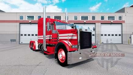 Peau Rouge sur Rollin Transport Peterbilt 379 tracteur pour American Truck Simulator