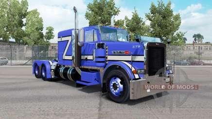 Peau Bleu Rollin dans le camion Peterbilt 379 pour American Truck Simulator