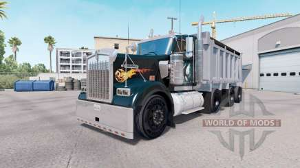 Kenworth W900 dump truck v1.1 pour American Truck Simulator