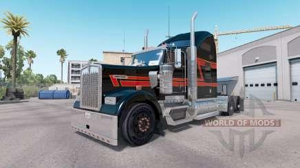 La peau de Big Black sur le camion Kenworth W900 pour American Truck Simulator