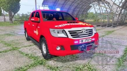 Toyota Hilux Double Cab 2011 feuerwehr v1.1 pour Farming Simulator 2017