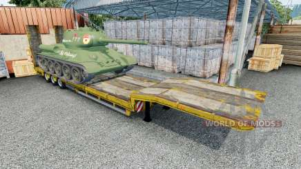 Semitrailer with cargo T-34-85 pour Euro Truck Simulator 2