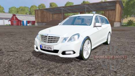 Mercedes-Benz E 350 CDI Estate (S212) 2009 pour Farming Simulator 2015
