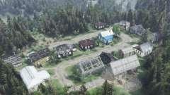 La périphérie de la village de Chauve Commerçant