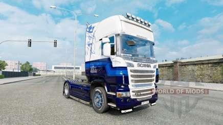 Le Bleu de la peau V8 camion Scania R-série pour Euro Truck Simulator 2