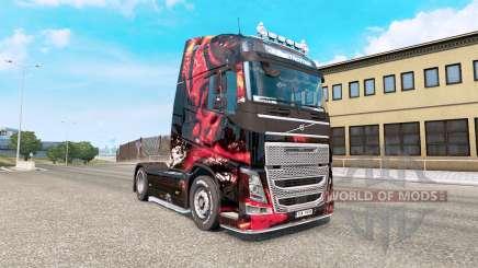 MSI Gaming de la peau pour le Volvo FH camion de la série pour Euro Truck Simulator 2