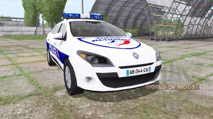 Renault Megane Estate 2009 Police Nationale pour Farming Simulator 2017