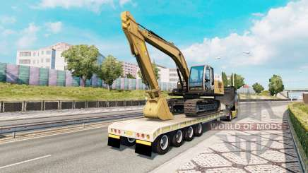 Trailer with construction equipment pour Euro Truck Simulator 2