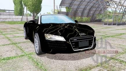 Audi R8 V10 Spyder 2012 Black Rift pour Farming Simulator 2017