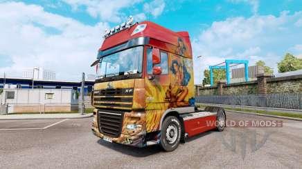 Sonder la peau pour DAF XF105 tracteur.510 pour Euro Truck Simulator 2