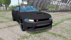 Dodge Charger SRT Hellcat 2015 Unmarked Police für Farming Simulator 2017