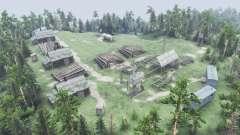 Village sur la colline pour Spin Tires