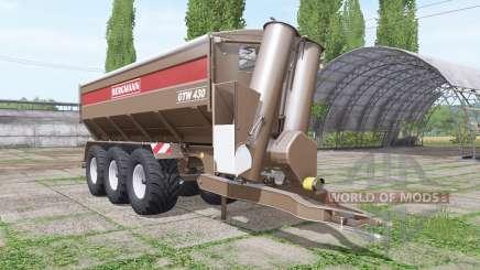 BERGMANN GTW 430 v1.0.0.2 pour Farming Simulator 2017