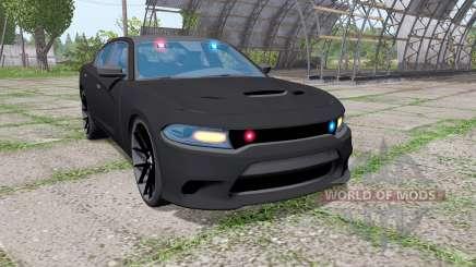 Dodge Charger SRT Hellcat 2015 Unmarked Police für Farming Simulator 2017