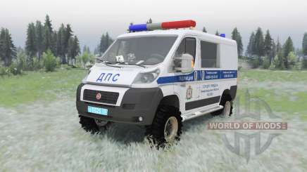 Fiat Ducato combi (250) 2006 ДПС pour Spin Tires