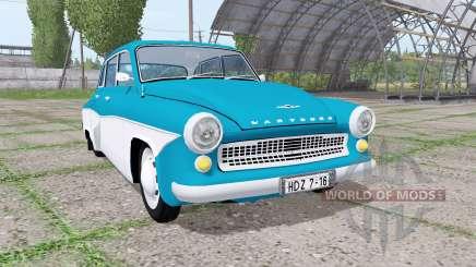 Wartburg 311-1 Deluxe limousine 1956 pour Farming Simulator 2017