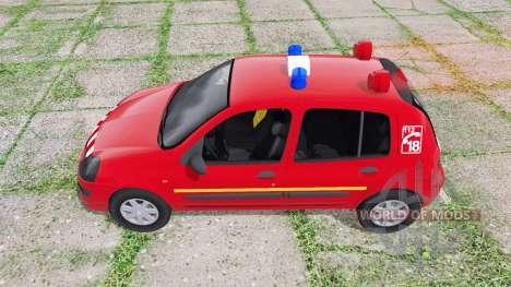 Renault Clio 2003 Pompier für Farming Simulator 2017