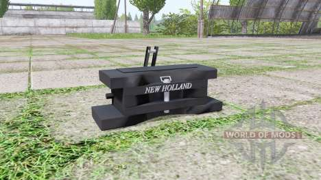 New Holland front weight pour Farming Simulator 2017