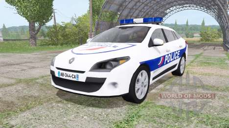 Renault Megane Estate 2009 Police Nationale für Farming Simulator 2017