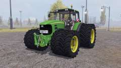 John Deere 7530 Premium twin wheels pour Farming Simulator 2013