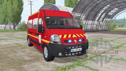 Renault Master 2003 Pompier pour Farming Simulator 2017