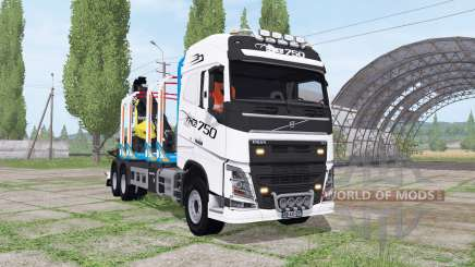 Volvo FH16 750 6x4 Globetrotter Timber Truck pour Farming Simulator 2017