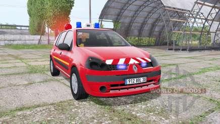 Renault Clio 2003 Pompier pour Farming Simulator 2017
