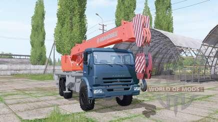 KAMAZ 65222 2009 Kran für Farming Simulator 2017