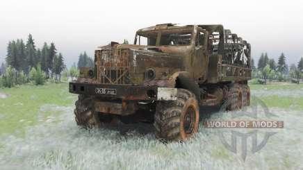 KrAZ-255B Letzten Atemzug für Spin Tires
