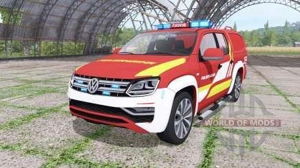 Volkswagen Amarok Double Cab feuerwehr v1.1 für Farming Simulator 2017
