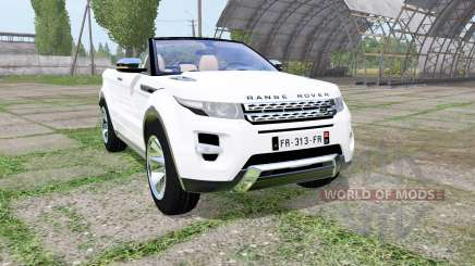Land Rover Range Rover Evoque convertible 2016 pour Farming Simulator 2017