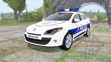 Renault Megane Estate 2009 Police Nationale v2.0 pour Farming Simulator 2017