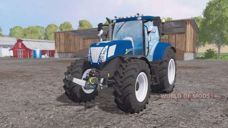 New Holland T7.270 Alimentation Bleu pour Farming Simulator 2015