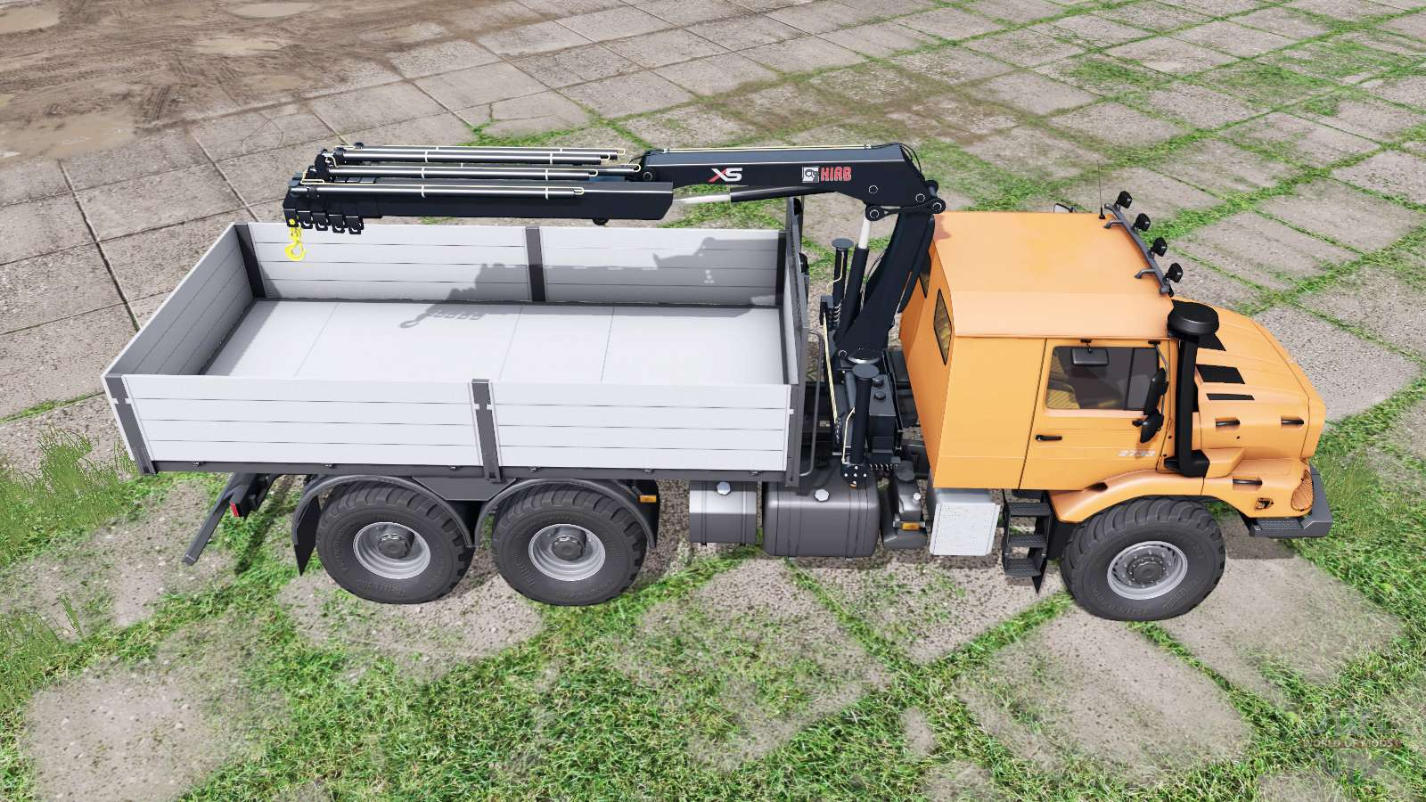 mercedes benz zetros 2733 a crane manipulator f r farming. Black Bedroom Furniture Sets. Home Design Ideas