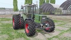 Fendt Favorit 615 LSA Turbomatik E dual rear für Farming Simulator 2017
