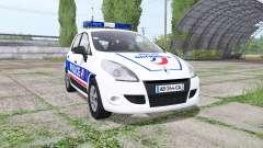 Renault Scenic (JZ) 2009 Police National pour Farming Simulator 2017