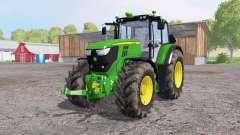 John Deere 6170M dirty tires pour Farming Simulator 2015